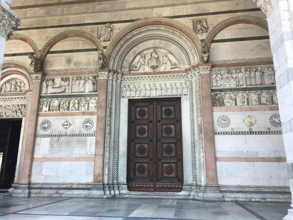Entrance to Lucca cathedral