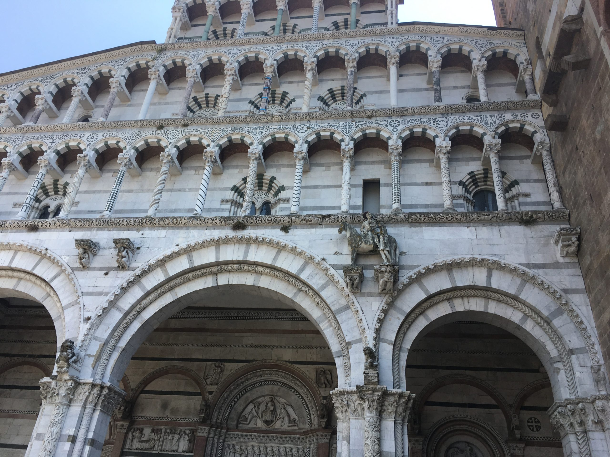 Facade of the cathedral of Lucca