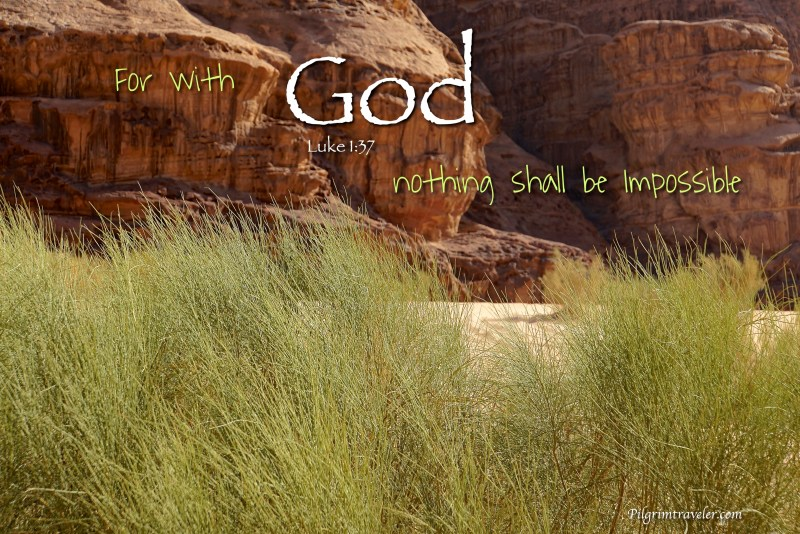 """Luke 1:37 """"For with God nothing shall be impossible."""""""
