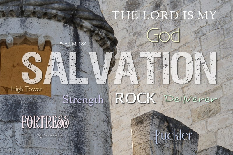"Psalm 18:2 ""The Lord is my rock, and my fortress, and my deliverer; my God, my strength, in whom I will trust; my buckler, and the horn of my salvation, and my high tower."""