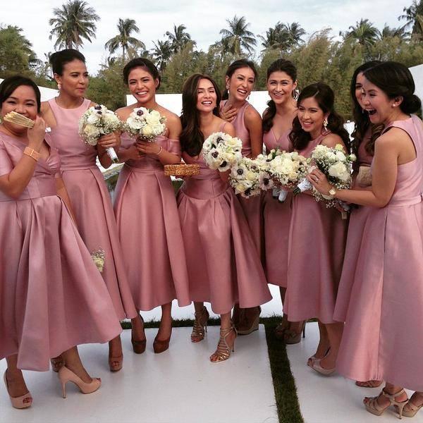 Wedding Entourage Gowns: Heart Evangelista And Chiz Escudero Wedding
