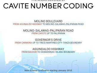 Cavite Number Coding roads covered