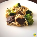 Lo Mein with Beef and Broccoli