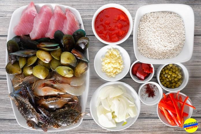 Pinoy Style Paella Recipe Ingredients