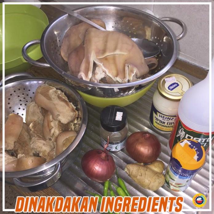 Dinakdakan Ingredients