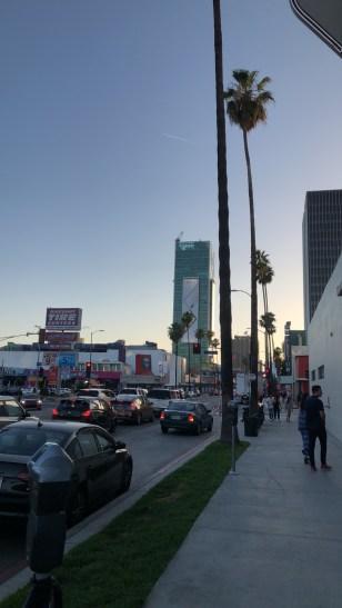 Los Angeles, en début de soirée...
