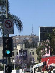 Les lettres d'Hollywood, pouvant être aperçues pas très loin de notre hôtel !