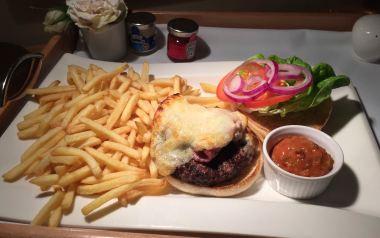 Burger & Salted Fries