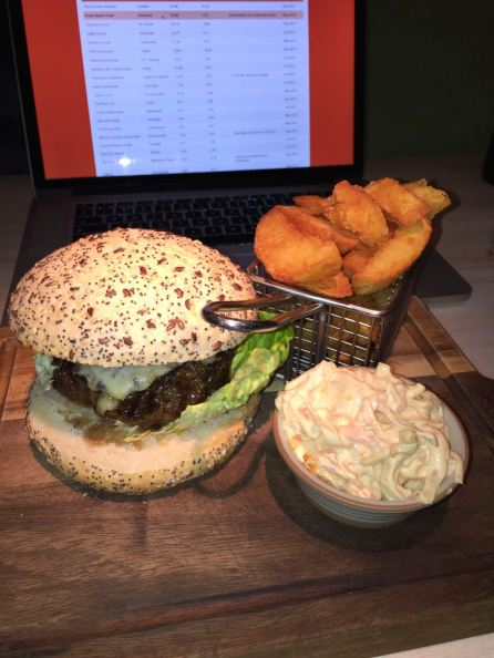 Burger & Thrice Cooked Chips