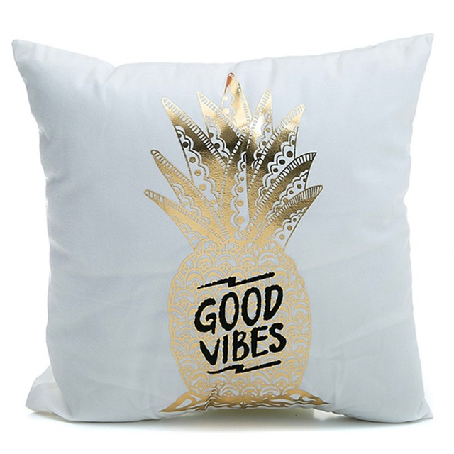 good vibes pineapple cushion cover
