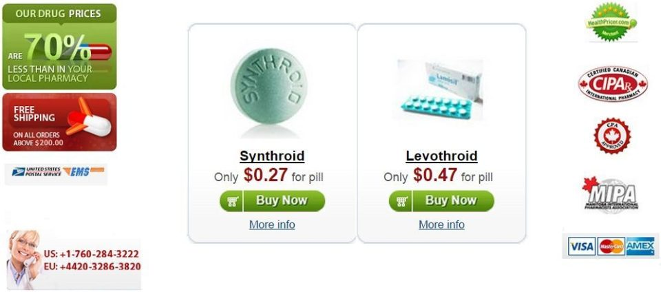 Buy Synthroid (Levothyroxine) Online Without Prescription