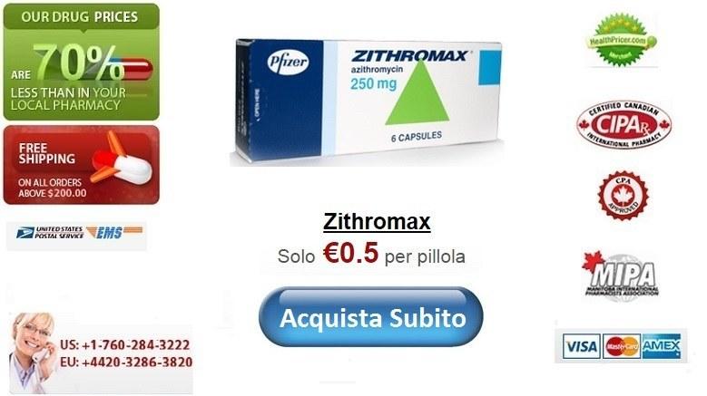 Acquistare Zithromax senza ricetta online