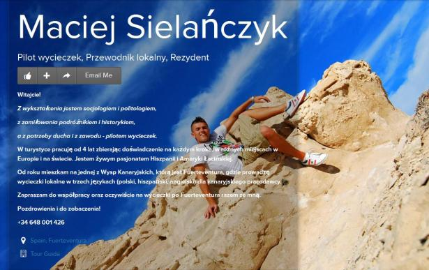 Maciej Sielańczyk PILOT WYCIECZEK PRZEWODNIK
