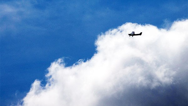 Plane in clouds - Private Pilot Licence