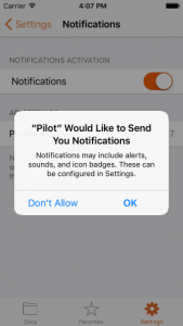 Give authorization to send notifications