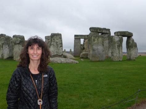 Oana at Stonehenge
