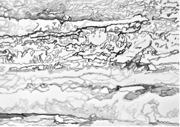 AO 5 (series: 3 Sekunden Atlantischer Ozean) | 2015 | Ink on paper | 42 x 59,5 cm