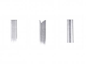 Strich 4, 3, 2 I 2015 I pencil on paper I 29,7 x 21 cm, each