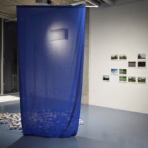 Left | Selket Chlupka: Body of Art, 2017, Installation; Right | Selket Chlupka: Beyond Violet #01 - #11, 2016, Collage series