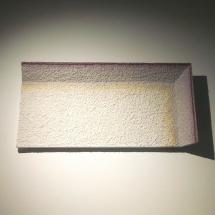 Attilio Tono: PRW23, 2017, Plaster, red wine, 49×99,5×10 cm