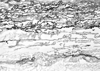 AO3 (series: 3 Sekunden Atlantischer Ozean) I 2015 I Ink on paper I 42 x 59,5 cm I Photo © S. Blaas