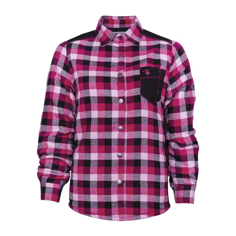 Chemise à carreaux rembourrée de travail femme