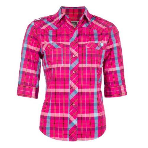 Pilote et Filles   Chemise de travail en coton pour femme   Cotton plaid shirt