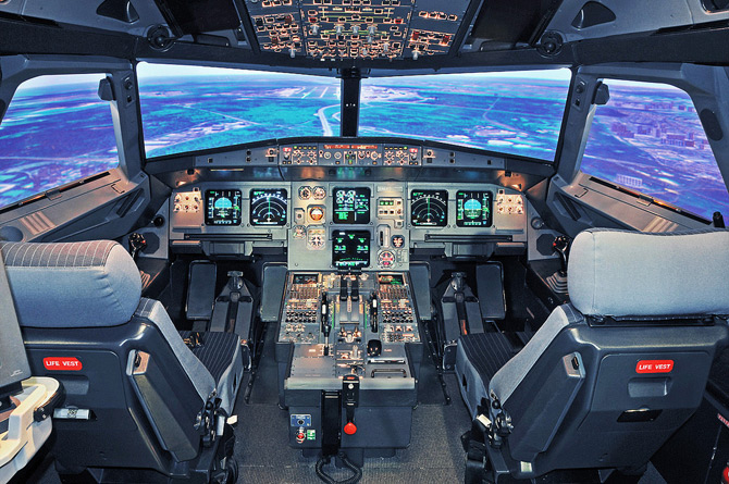 Аэробус А319 кабина пилота