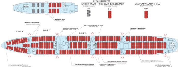 Boeing-747-400-схема салона