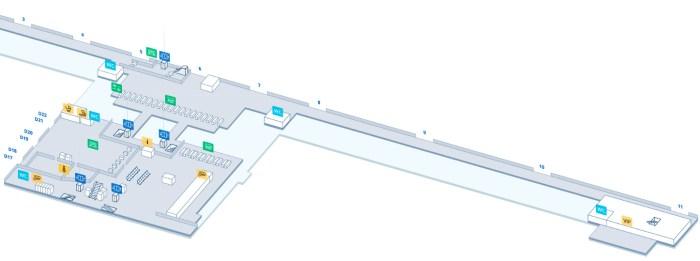 Схема аэропорта терминал D-2
