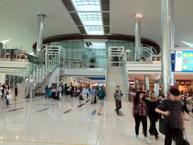 Терминал 3 аэропорт внутри Дубай