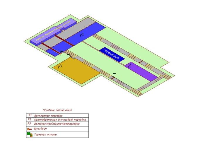 Аэропорт Кемерово схема парковки