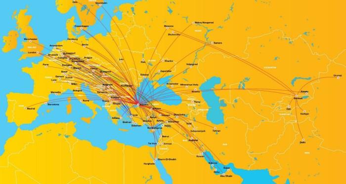 Карта направлений Пегасус