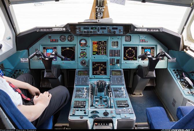 Ту 204 фото кабина пилотов