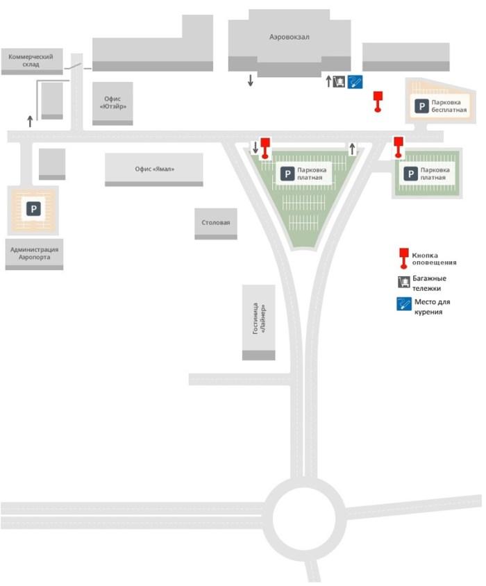Общая схема аэропорта