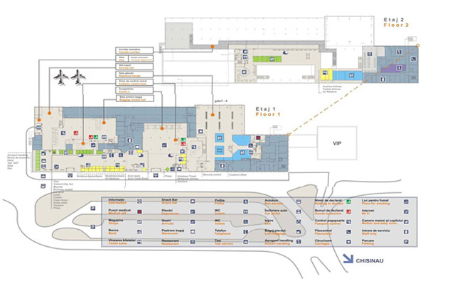 Схема аэропорта Кишинев