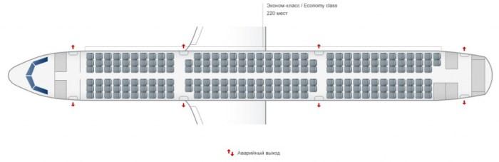 Airbus A321 схема салона уральские авиалинии