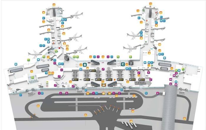 Схема терминала Домодедово