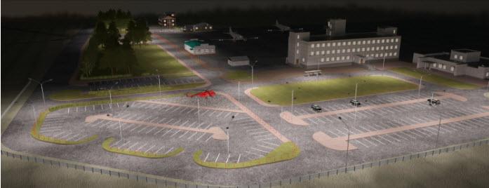 Схема аэропорта Нарьян-Мар в ночное время