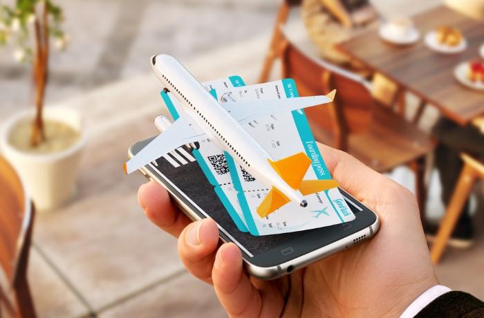Регистрация билетов на самолет с мобильного