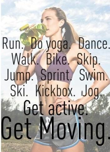 Get active. Get moving. #motivation #inspiration #run {PilotingPaperAirplanes.com}