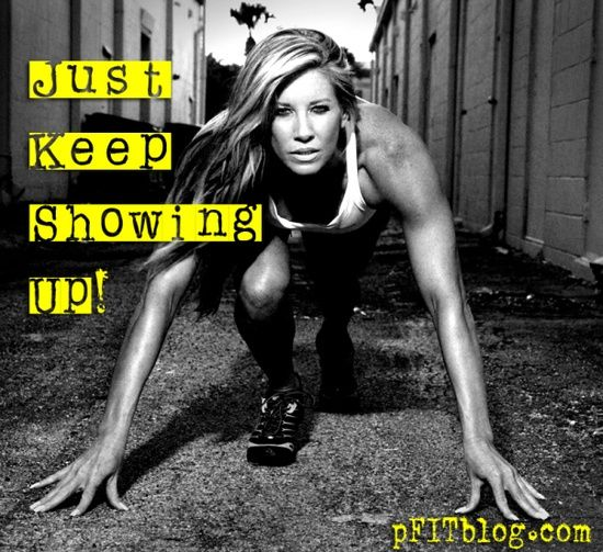 Just keep showing up #motivation #inspiration #run {PilotingPaperAirplanes.com}