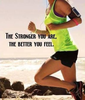 The stronger you are the better you feel. #Inspiration #Training #Motivation #run #fitness {PilotingPaperAirplanes.com}