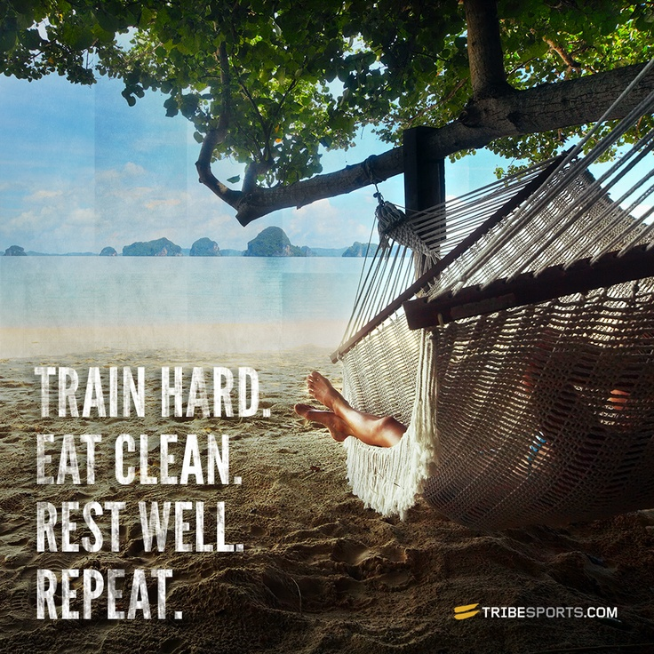 Train hard. Eat clean. Rest well. Repeat. #restday #run #fitness #workout #motivation #inspiration {PilotingPaperAirplanes.com}