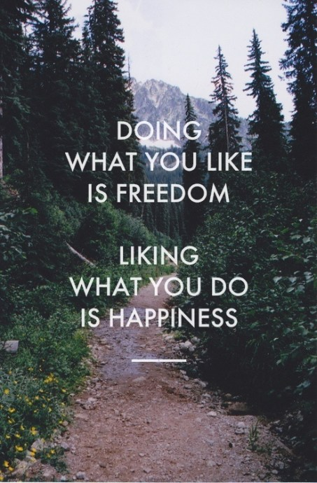 Doing what you like is freedom. Liking what you do is happiness. #run #running #trail #motivation #inspiration #fitness #health {PilotingPaperAirplanes.com}