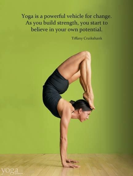 Yoga is a powerful vehicle for change. #motivation #inspiration #fitness #health #run #running {PilotingPaperAirplanes.com}