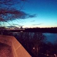 Night stroll in a Washington Heights park.