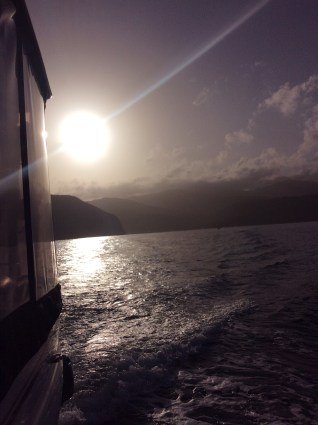 Sunrise departure from deshaies, Guadeloupe