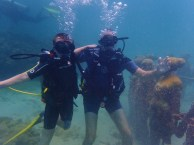 Ryan & Randy, Underwater Sculpture Park, Molinere Bay, Grenada
