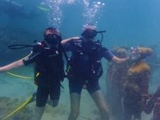 Ryan & Randy, Underwater Sculpture Park, Molinere Bay, Grenada